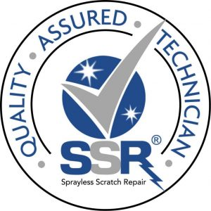 Sprayless Scratch Repair (SSR) certified technician logo - ASAP is currently trained and certified to perform all Sprayless Scratch Repair (SSR) work